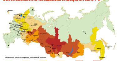 клещевой энцефалит эндемичные районы