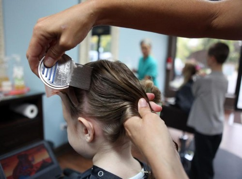 Гребнем вычесывают вшей с волос